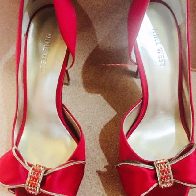 187ef81290b Ruby Red Nine West stilettos on Carousell