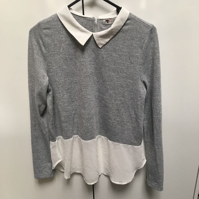 Size S Long Sleeve Collared Top