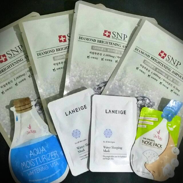Skincare Packs (Masks from Korea)