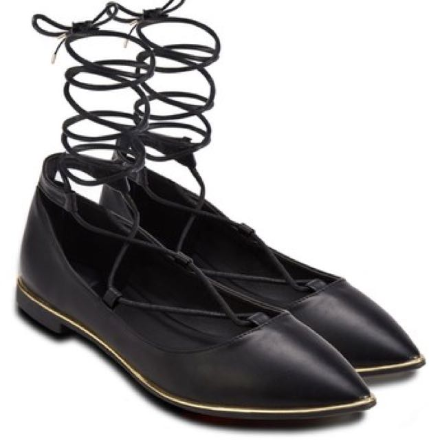 Something borrowed Lace up flats