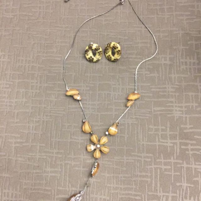 Statement Necklace + Earrings Bundle
