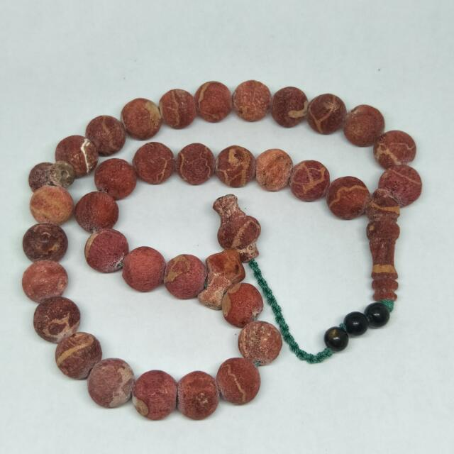 Tasbih Marjan Red Coral, Design & Craft, Handmade Goods & Accessories on Carousell