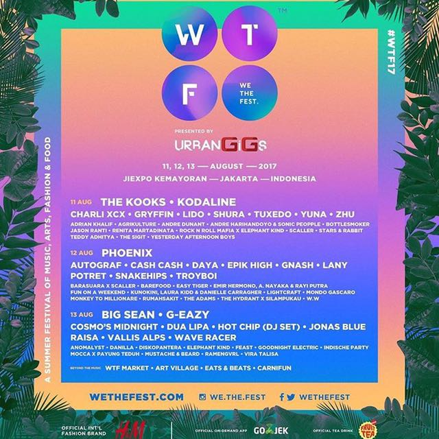 WTF We The Fest 2017 3DayPass Tiket