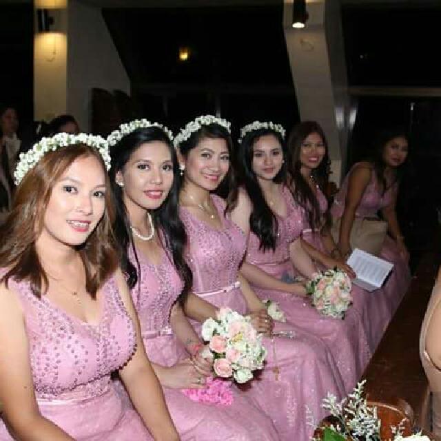 Wedding Entourage Gowns And Wedding Gown, Preloved Women\'s Fashion ...