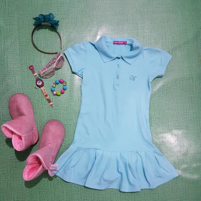 Whatever Blue Polo Dress Size 10