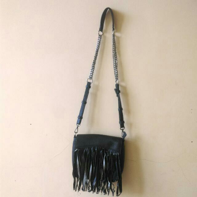 Zara Fringe Chain Bag