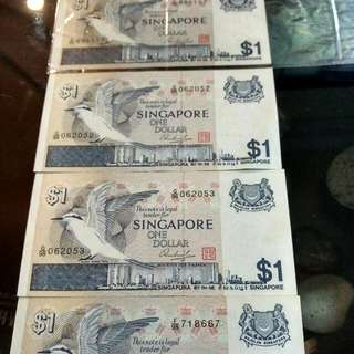 Old Singapore Bird Note $1