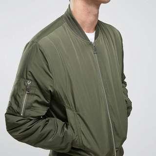 ASOS Khaki Bomber Jacket - Men's XXL