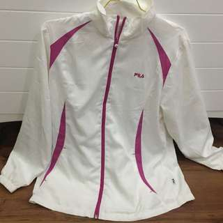 Pink White Fila Jacket