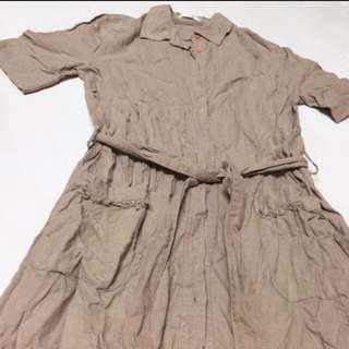 (含運)棉麻洋裝