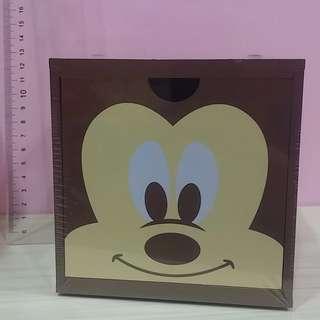 🚚 正版台灣製 新款 迪士尼 米奇積木盒 收納盒 疊疊樂 木頭盒 (單售價)