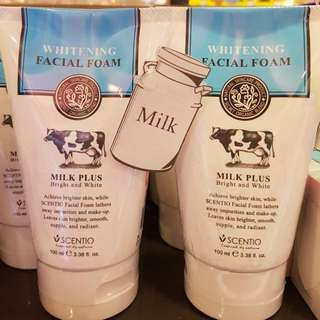 Scentio Milk Plus Whitening Facial Foam