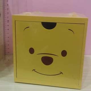 🚚 正版台灣製 新款 迪士尼 小熊維尼 積木盒 收納盒 疊疊樂 木頭盒