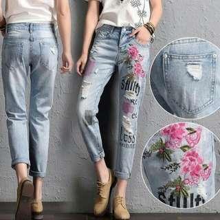 Zara Ripped Lasse Jeans
