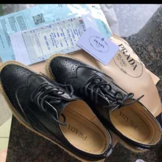 PRADA shoes genuine Leather