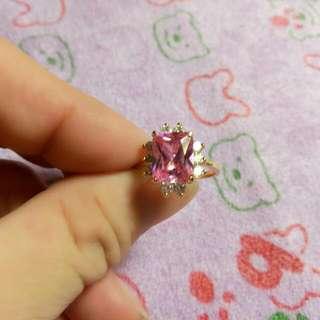 全新粉紅色戒指