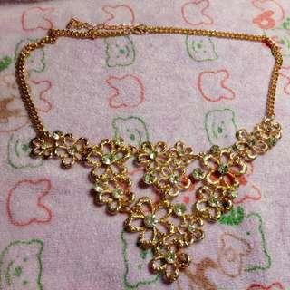 全新華麗金色項鏈
