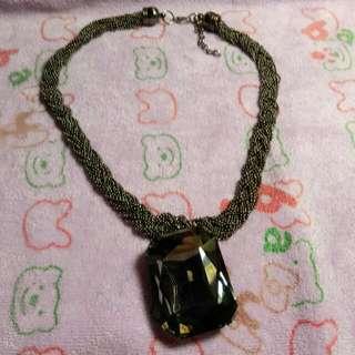 全新黑色水晶項鍊