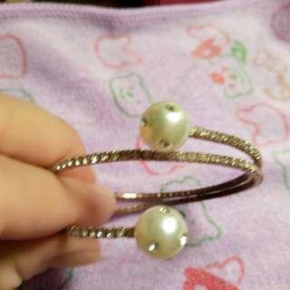 全新鑲鑽珠珠手鍊