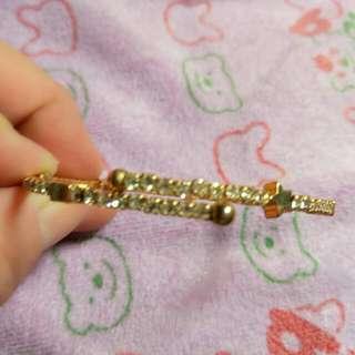 全新金色鑲ˊ鑽星星手鍊