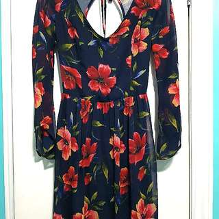 Open Back Floral Hollister Dress