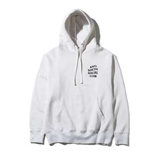 Anti Social Social Club Hoodie in WHITE