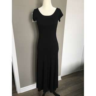 MISSY MIDI-MAXI JERSEY DRESS WITH CAP SLEEVE - SIZE SMALL