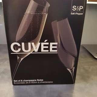 6 x Champagne Flûtes