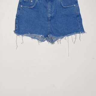 Topshop 'mom' denim cutt off shortd