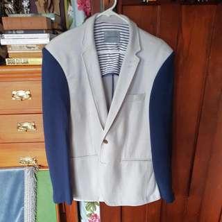 White And Blue Sports Blazer