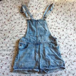 "Denim / Jeans Dungarees Overalls Shorts ""Romper"" Valleygirl"