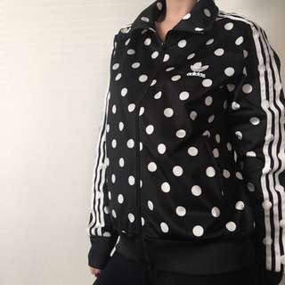 Vintage Polka Dot Adidas Jacket