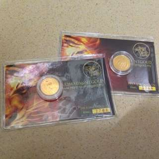 1g Coin Harimau Mint Gold