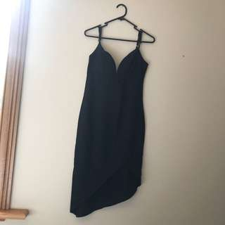 Size 10 Black Came Dress - Avery The Label