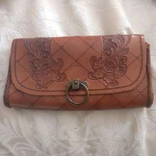 Handcrafted Vintage Leather Clutch