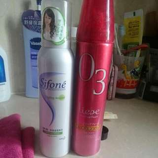 Sifone Styling Mousse(strong Hold) +liese Waveup Foam