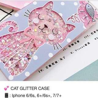 Cat Glitter Case