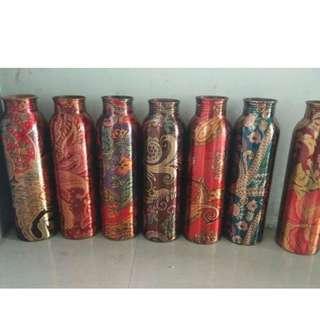 printed copper water bottles