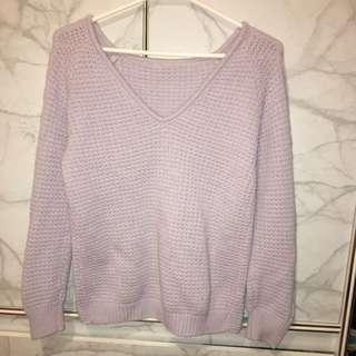 Light Purple Knit Sweater