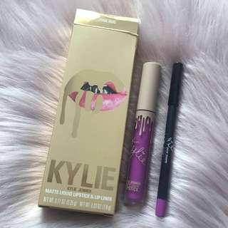 Authentic Kylie Cosmetics Vacation Edition - June Bug Matte Lipkit