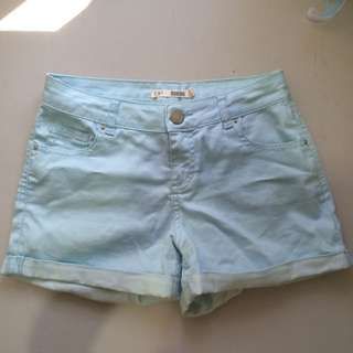 Dorothy Perkins Light Blue Roll-Up Shorts