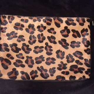 Leopard Leather Pouch