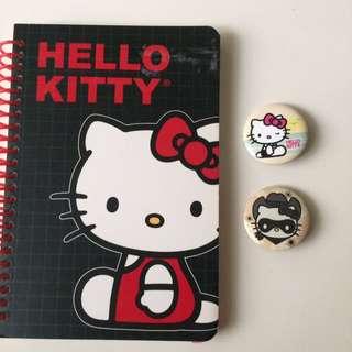 Hello Kitty Notebook & Pins
