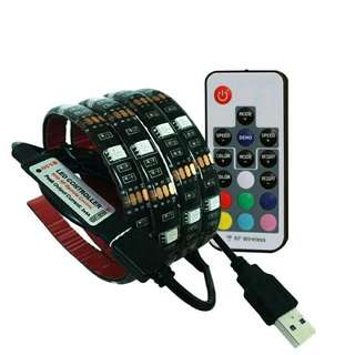 USB RGB LED Strip With Remote Control