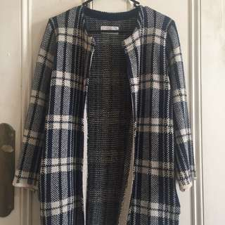 HEADLINE SEOUL Blue Checked Cardi