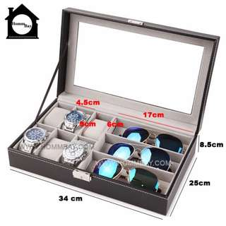 Accessory Accessories Organiser Organizer Display PVC Sunglasses Sunglass Case Eyewear Eye Wear Box Eye Glasses Glass Display Holder Storage Container Watches Boxes Organizers