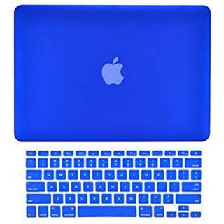Rubberized Protective Tablet Case For Apple Mac-book 13.3 Inch air (blue)
