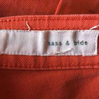 Sass And Bide Red Faded Jeans