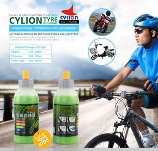 Cylion Tire Sealant for Scooter/ Bicycle Puncture Proof Sealant