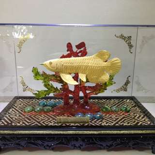 Poh Heng 999 Pure Gold Figure - Auspicious Arowana Fish